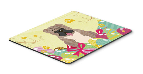 Buy this Easter Eggs English Bulldog Grey Brindle  Mouse Pad, Hot Pad or Trivet BB6126MP