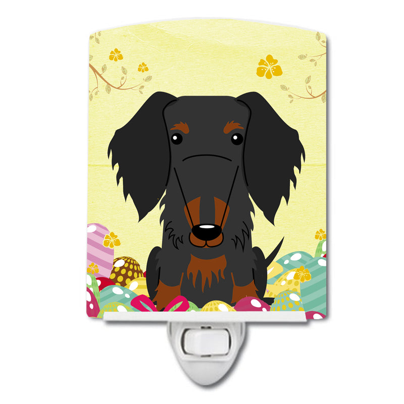 Buy this Easter Eggs Wire Haired Dachshund Black Tan Ceramic Night Light BB6127CNL