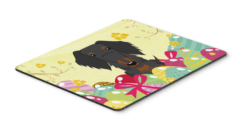 Buy this Easter Eggs Wire Haired Dachshund Black Tan Mouse Pad, Hot Pad or Trivet BB6127MP