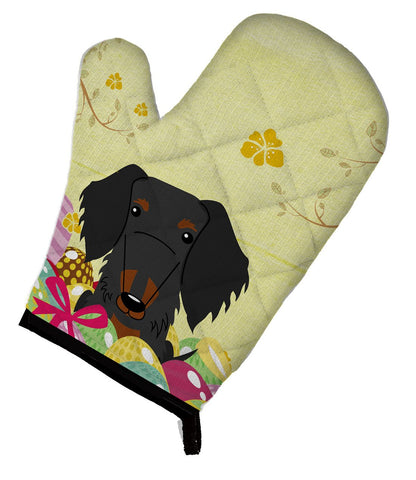 Buy this Easter Eggs Wire Haired Dachshund Black Tan Oven Mitt BB6127OVMT