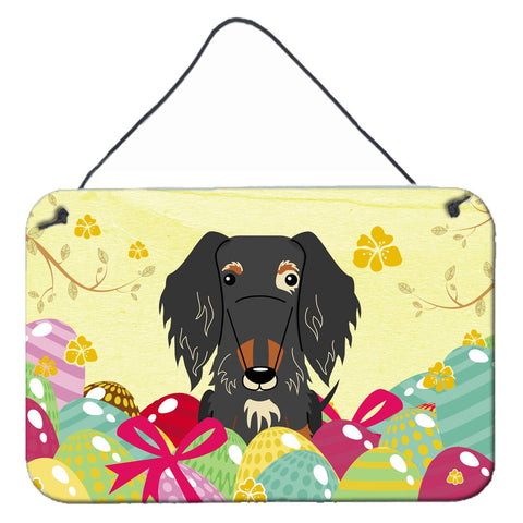 Buy this Easter Eggs Wire Haired Dachshund Dapple Wall or Door Hanging Prints BB6128DS812