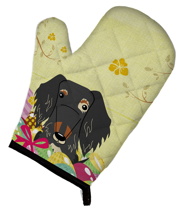 Buy this Easter Eggs Wire Haired Dachshund Dapple Oven Mitt BB6128OVMT