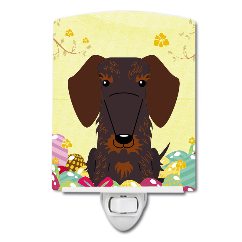 Buy this Easter Eggs Wire Haired Dachshund Chocolate Ceramic Night Light BB6129CNL
