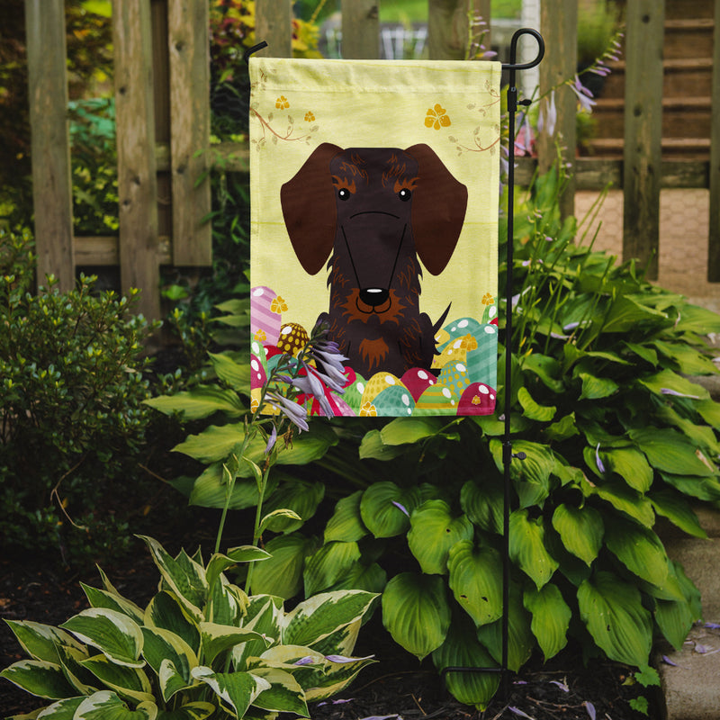 Buy this Easter Eggs Wire Haired Dachshund Chocolate Flag Garden Size BB6129GF