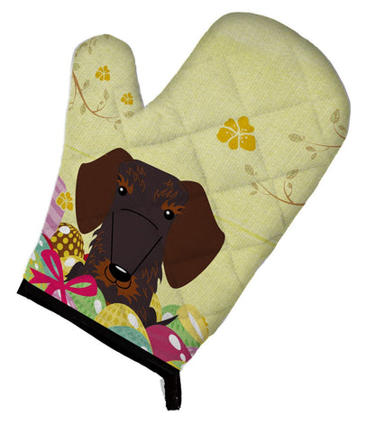 Buy this Easter Eggs Wire Haired Dachshund Chocolate Oven Mitt BB6129OVMT