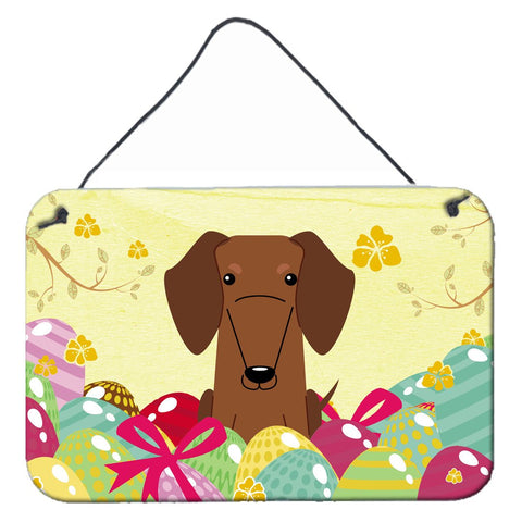 Buy this Easter Eggs Dachshund Red Brown Wall or Door Hanging Prints BB6130DS812