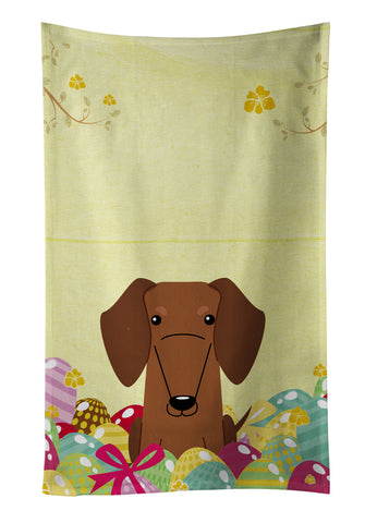 Buy this Easter Eggs Dachshund Red Brown Kitchen Towel BB6130KTWL