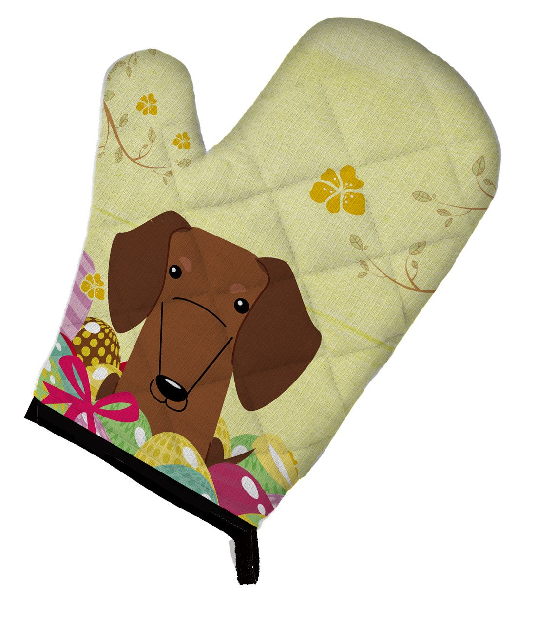 Buy this Easter Eggs Dachshund Red Brown Oven Mitt BB6130OVMT
