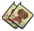 Easter Eggs Dachshund Red Brown Pair of Pot Holders BB6130PTHD by Caroline's Treasures