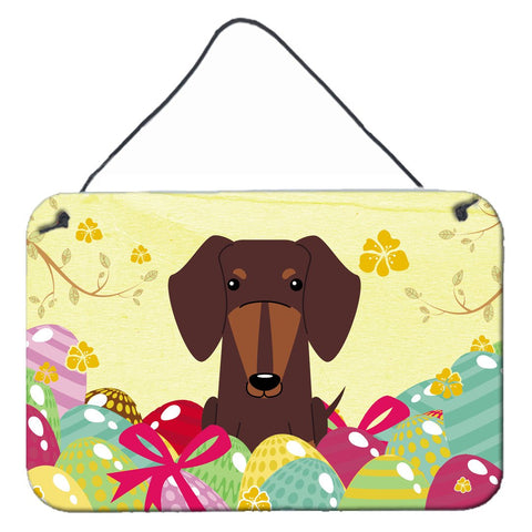 Buy this Easter Eggs Dachshund Chocolate Wall or Door Hanging Prints BB6131DS812