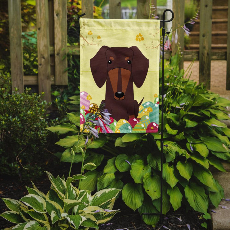 Buy this Easter Eggs Dachshund Chocolate Flag Garden Size BB6131GF