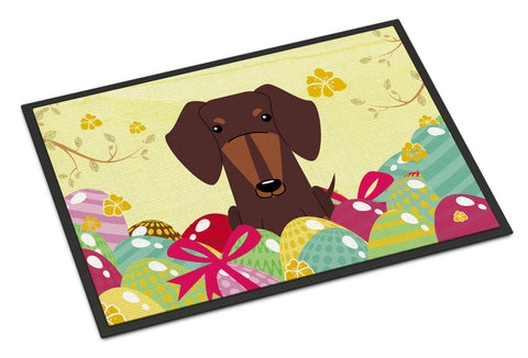 Buy this Easter Eggs Dachshund Chocolate Indoor or Outdoor Mat 18x27 BB6131MAT