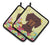 Buy this Easter Eggs Dachshund Chocolate Pair of Pot Holders BB6131PTHD