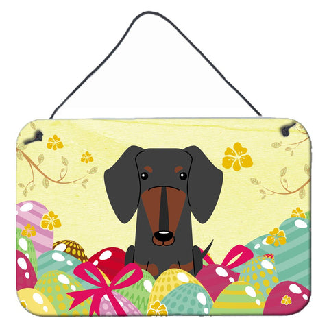 Buy this Easter Eggs Dachshund Black Tan Wall or Door Hanging Prints BB6132DS812