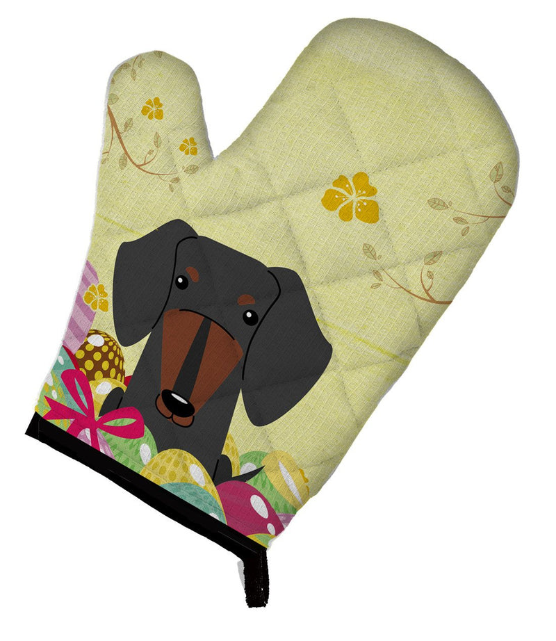 Buy this Easter Eggs Dachshund Black Tan Oven Mitt BB6132OVMT