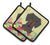 Easter Eggs Dachshund Black Tan Pair of Pot Holders BB6132PTHD by Caroline's Treasures