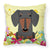 Buy this Easter Eggs Dachshund Black Tan Fabric Decorative Pillow BB6132PW1818