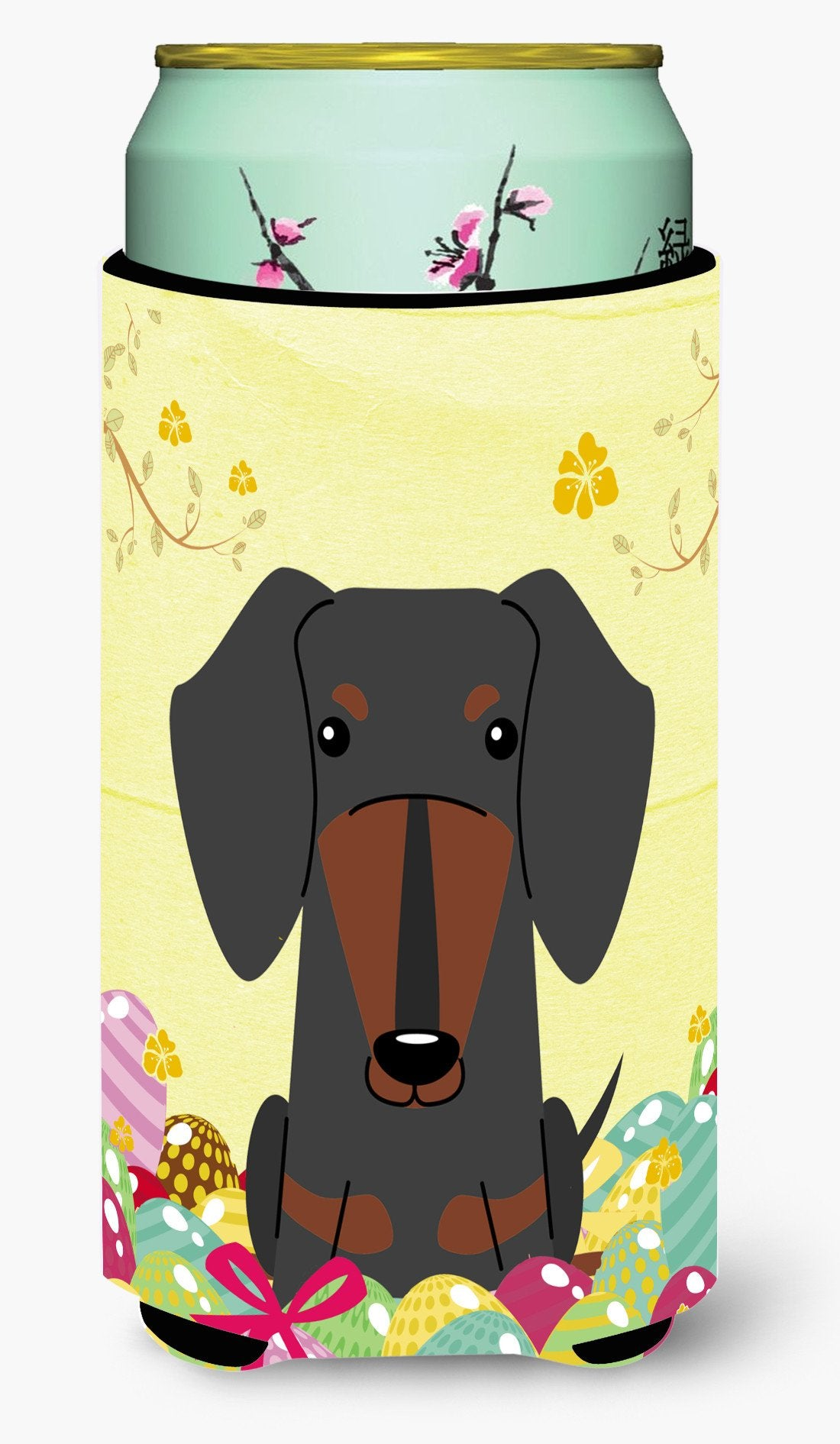 Easter Eggs Dachshund Black Tan Tall Boy Beverage Insulator Hugger BB6132TBC by Caroline's Treasures