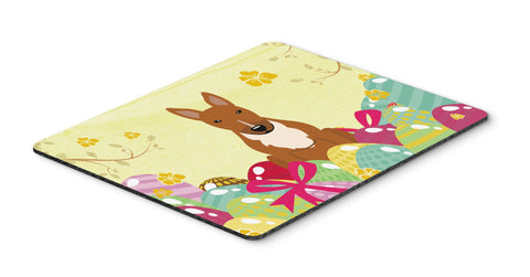 Buy this Easter Eggs Bull Terrier Red Mouse Pad, Hot Pad or Trivet BB6134MP