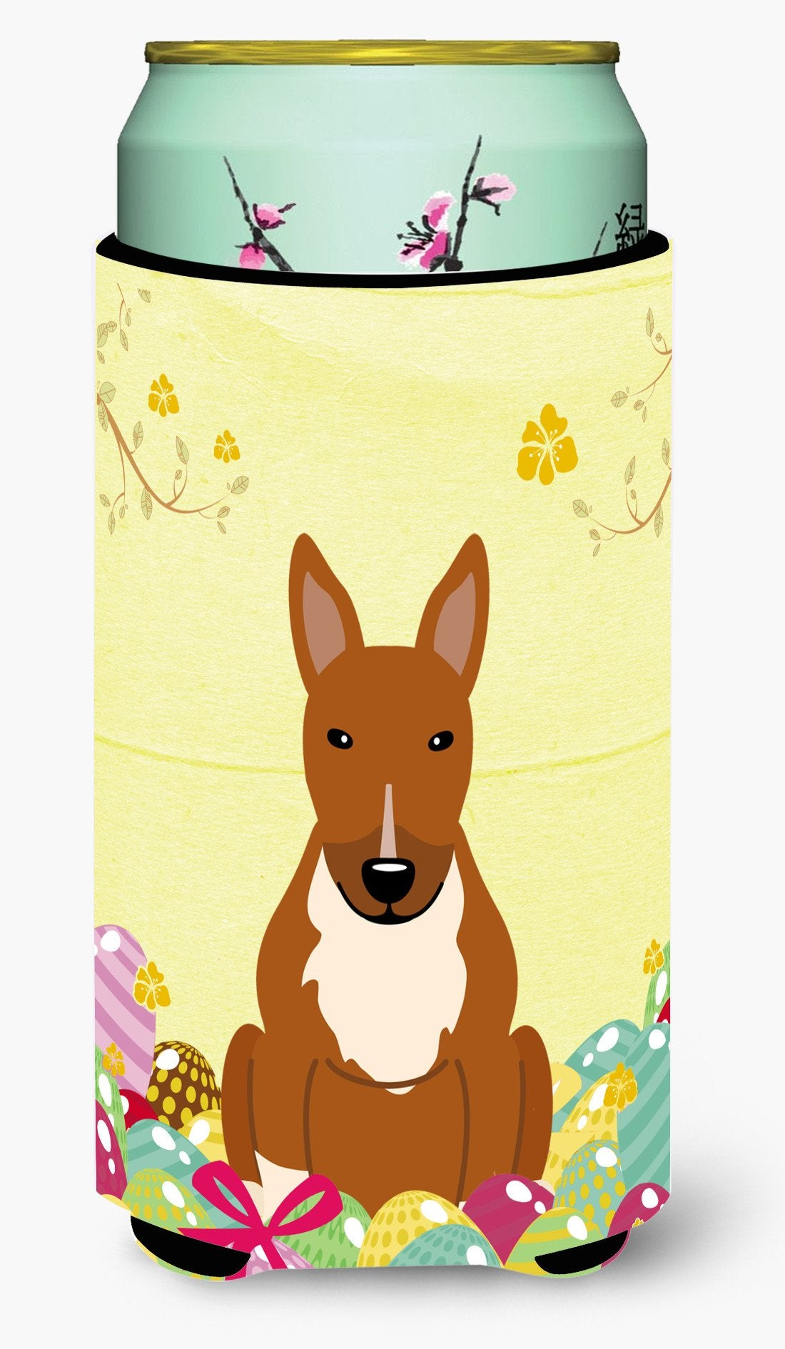 Easter Eggs Bull Terrier Red Tall Boy Beverage Insulator Hugger BB6134TBC by Caroline's Treasures