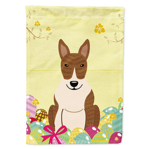 Buy this Easter Eggs Bull Terrier Brindle Flag Garden Size BB6137GF
