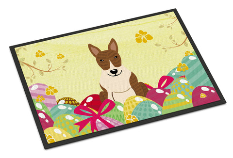 Buy this Easter Eggs Bull Terrier Brindle Indoor or Outdoor Mat 18x27 BB6137MAT
