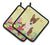 Buy this Easter Eggs Bull Terrier Brindle Pair of Pot Holders BB6137PTHD