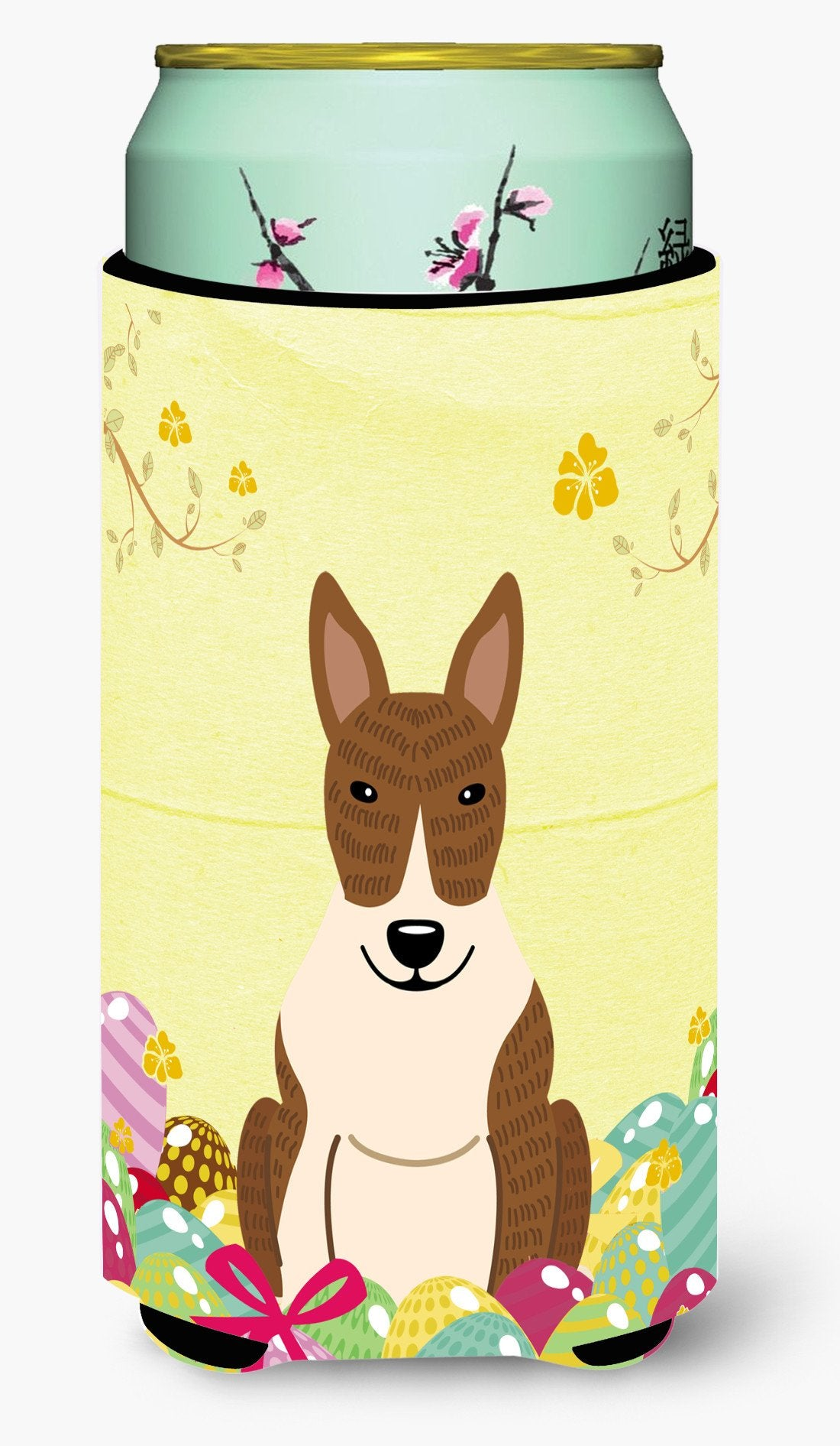 Easter Eggs Bull Terrier Brindle Tall Boy Beverage Insulator Hugger BB6137TBC by Caroline's Treasures