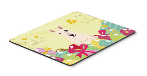 Buy this Easter Eggs Bull Terrier White Mouse Pad, Hot Pad or Trivet BB6138MP