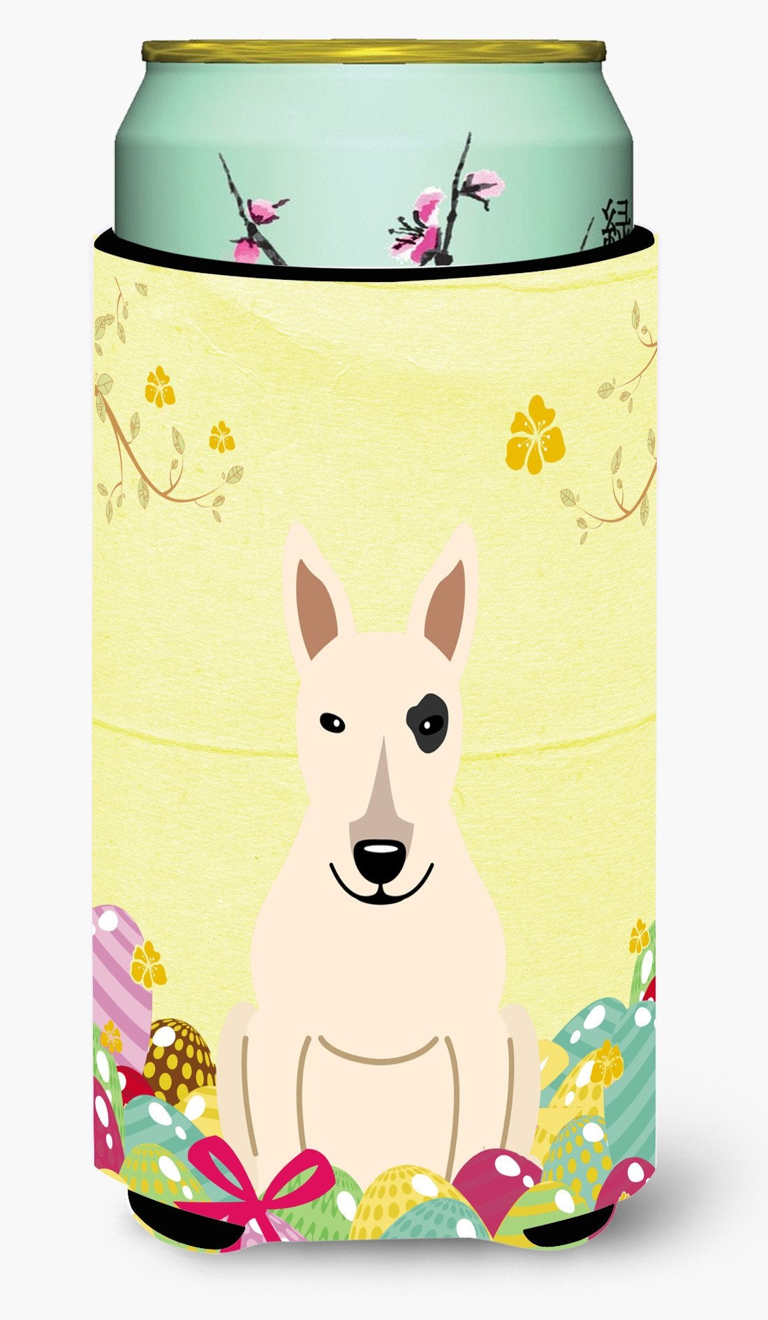 Easter Eggs Bull Terrier White Tall Boy Beverage Insulator Hugger BB6138TBC by Caroline's Treasures