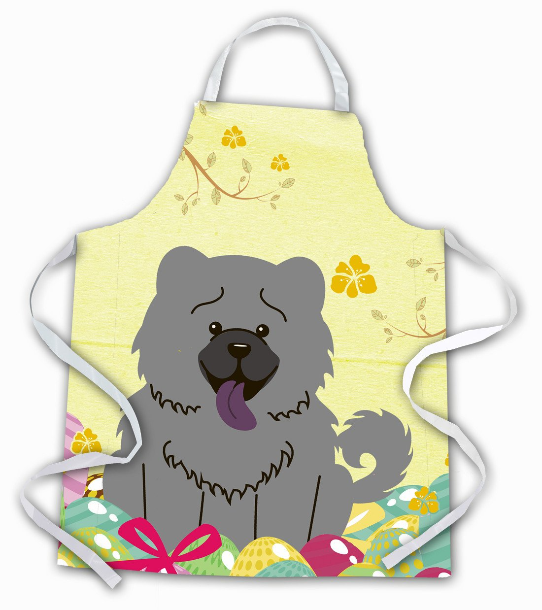 Easter Eggs Chow Chow Blue Apron BB6139APRON by Caroline's Treasures