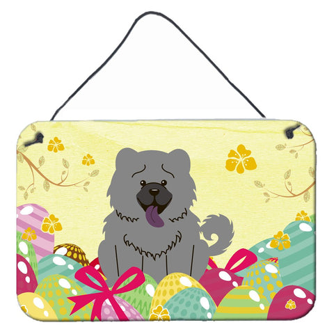 Buy this Easter Eggs Chow Chow Blue Wall or Door Hanging Prints BB6139DS812
