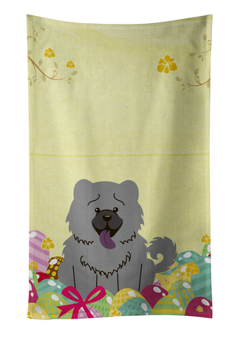 Buy this Easter Eggs Chow Chow Blue Kitchen Towel BB6139KTWL