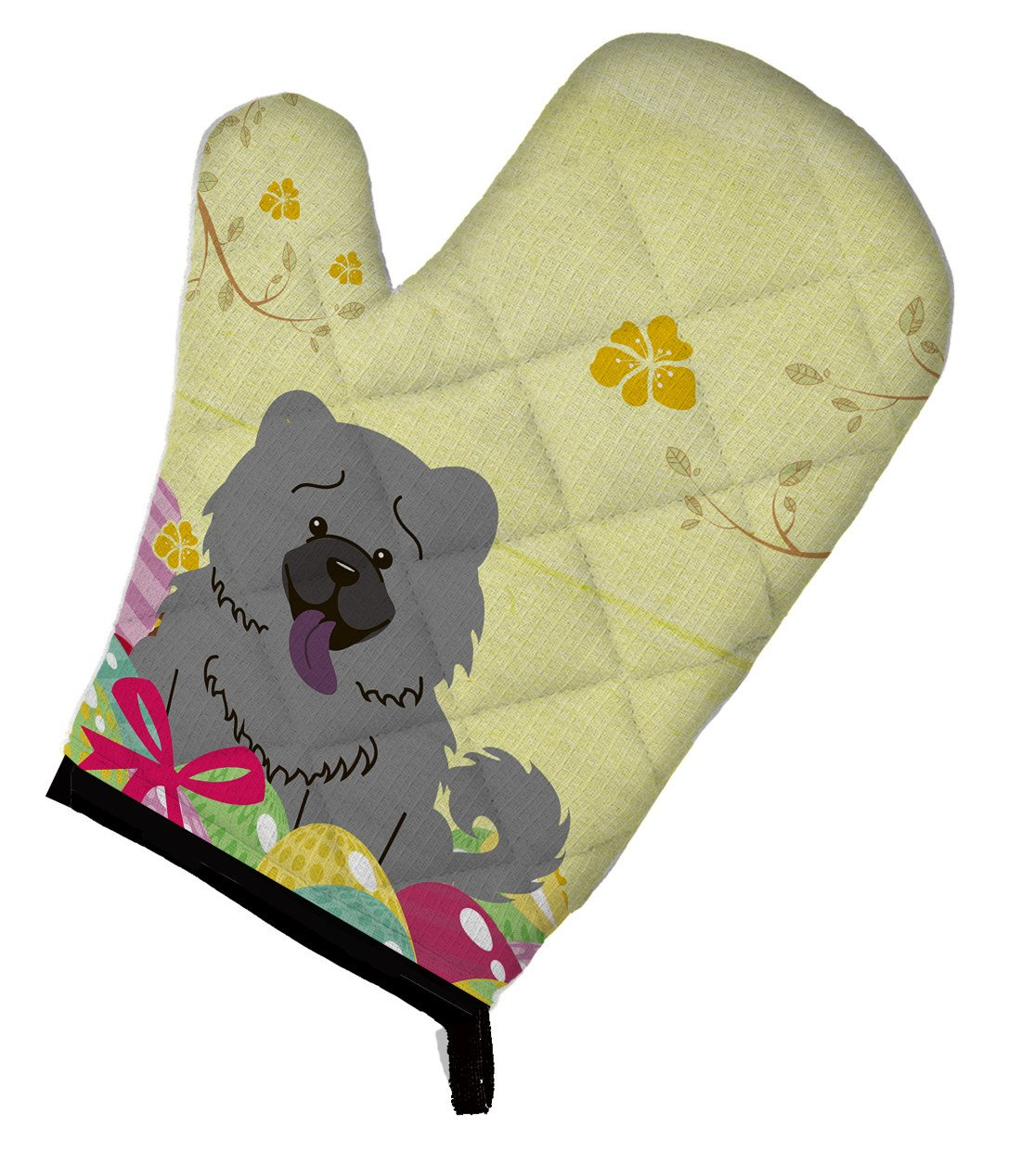 Easter Eggs Chow Chow Blue Oven Mitt BB6139OVMT by Caroline's Treasures