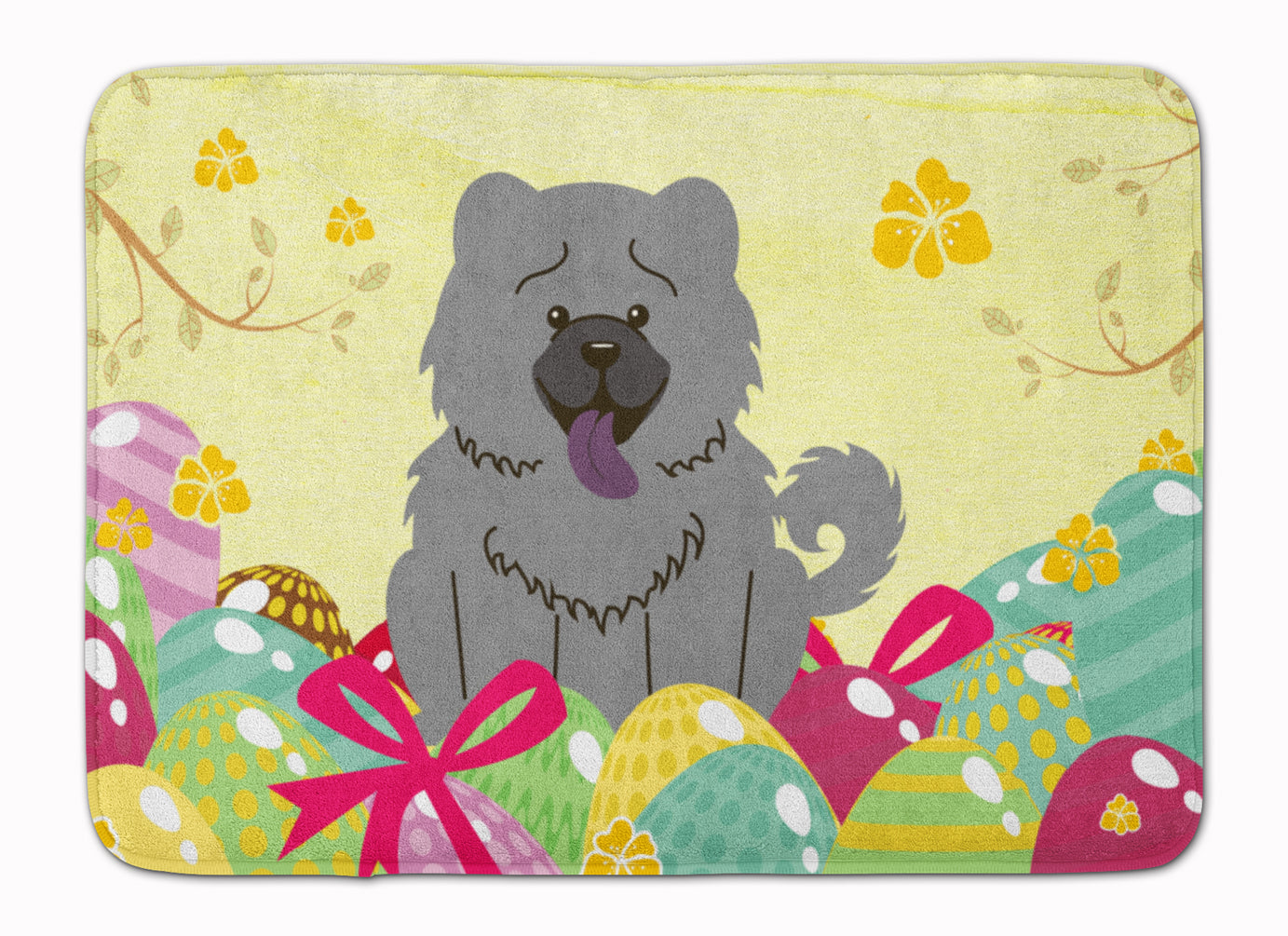 Easter Eggs Chow Chow Blue Machine Washable Memory Foam Mat BB6139RUG by Caroline's Treasures