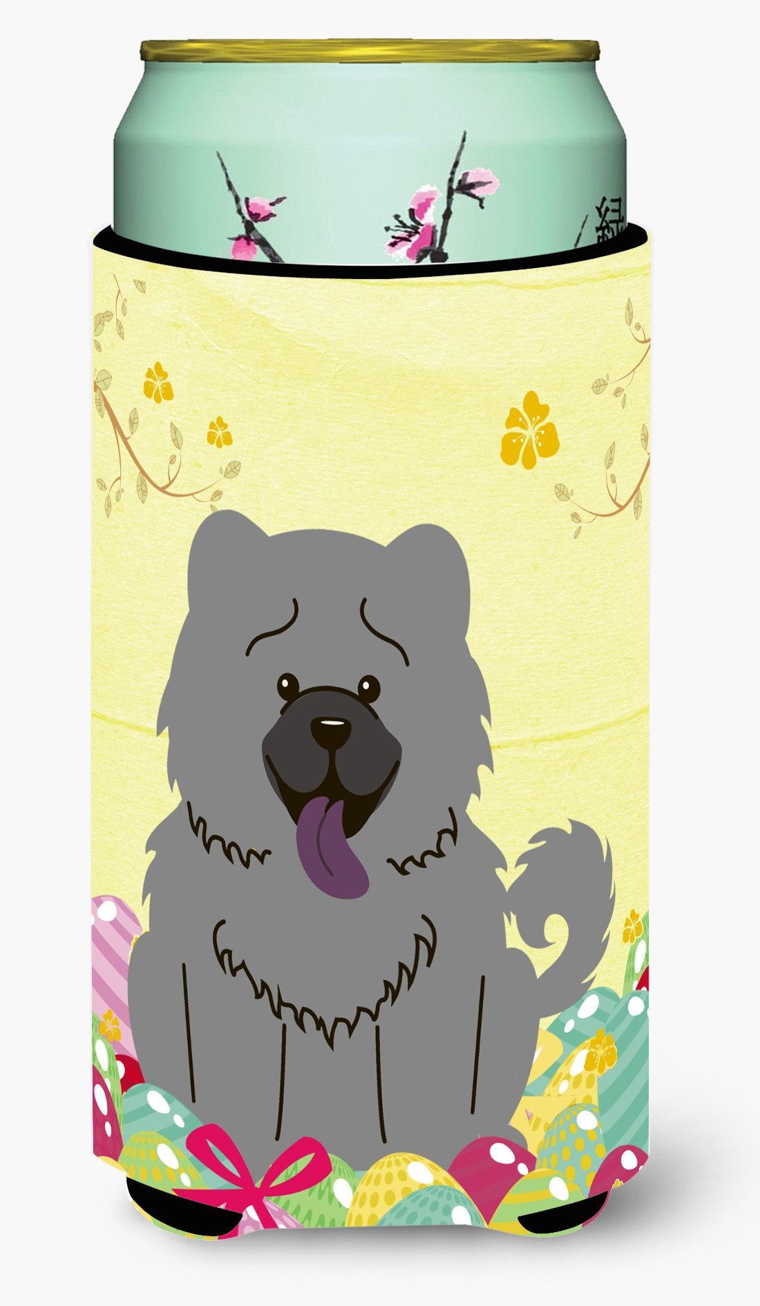 Easter Eggs Chow Chow Blue Tall Boy Beverage Insulator Hugger BB6139TBC by Caroline's Treasures