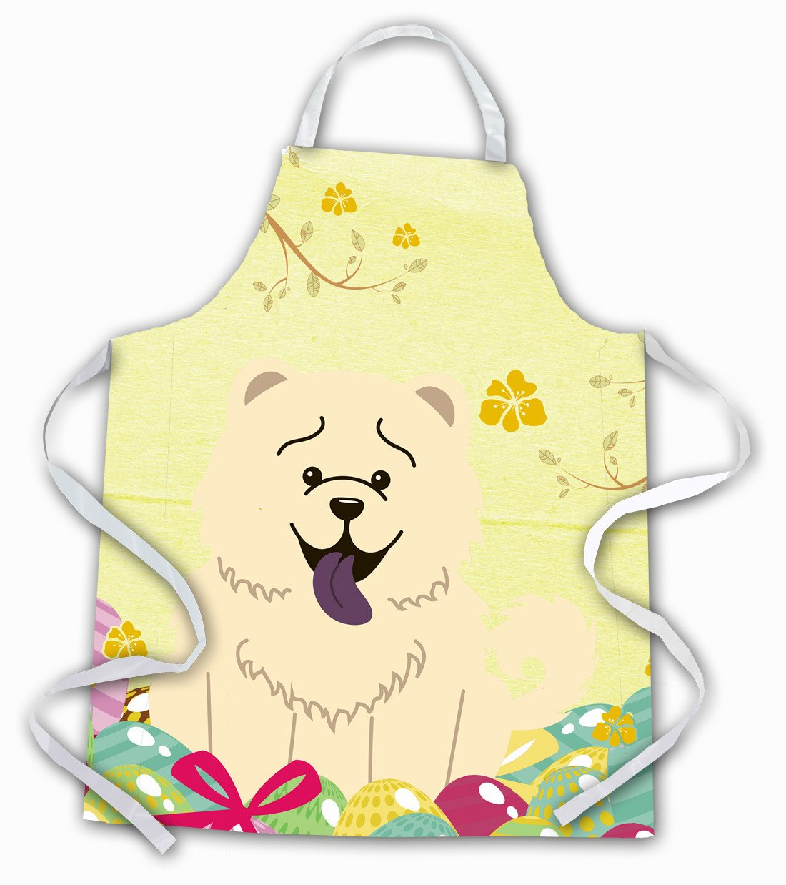 Easter Eggs Chow Chow White Apron BB6140APRON by Caroline's Treasures