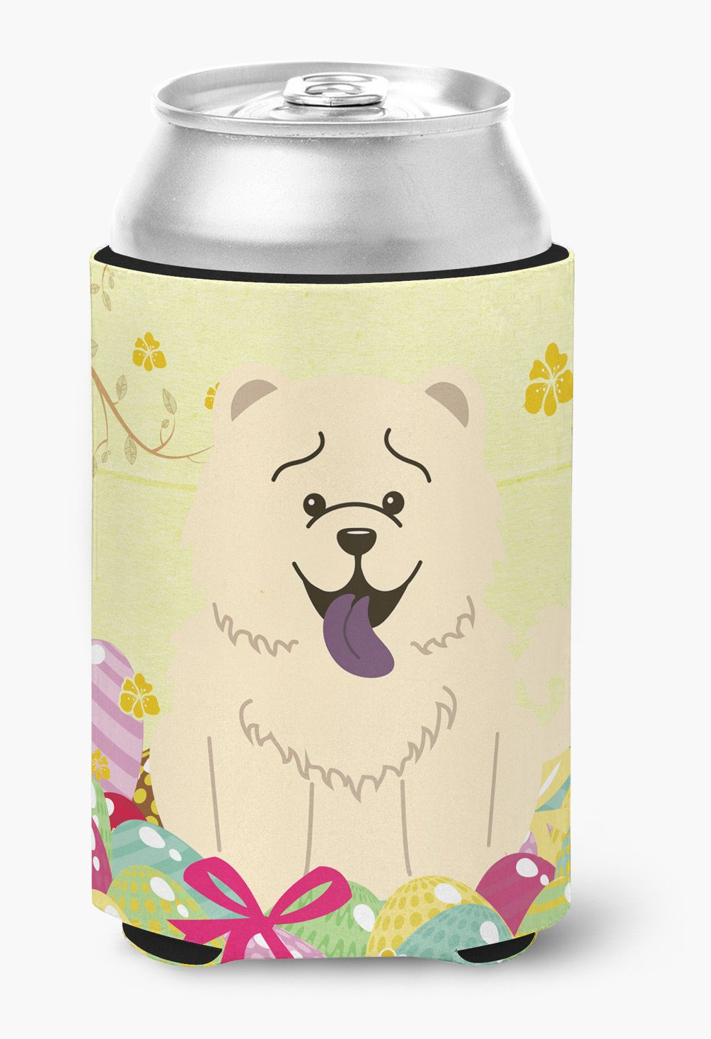 Easter Eggs Chow Chow White Can or Bottle Hugger BB6140CC by Caroline's Treasures