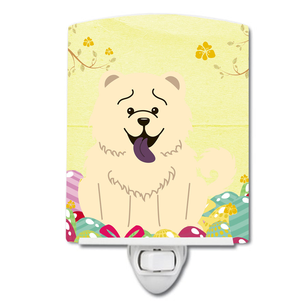 Easter Eggs Chow Chow White Ceramic Night Light BB6140CNL by Caroline's Treasures