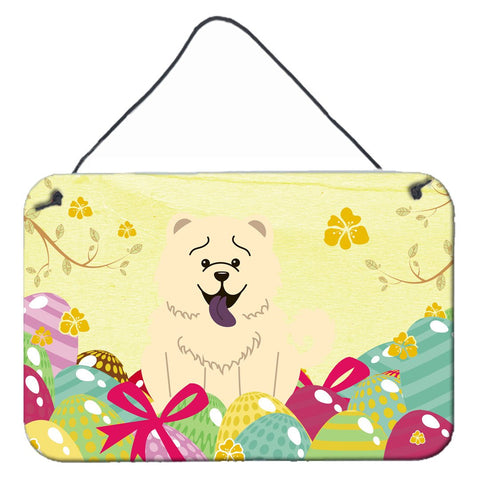 Buy this Easter Eggs Chow Chow White Wall or Door Hanging Prints BB6140DS812