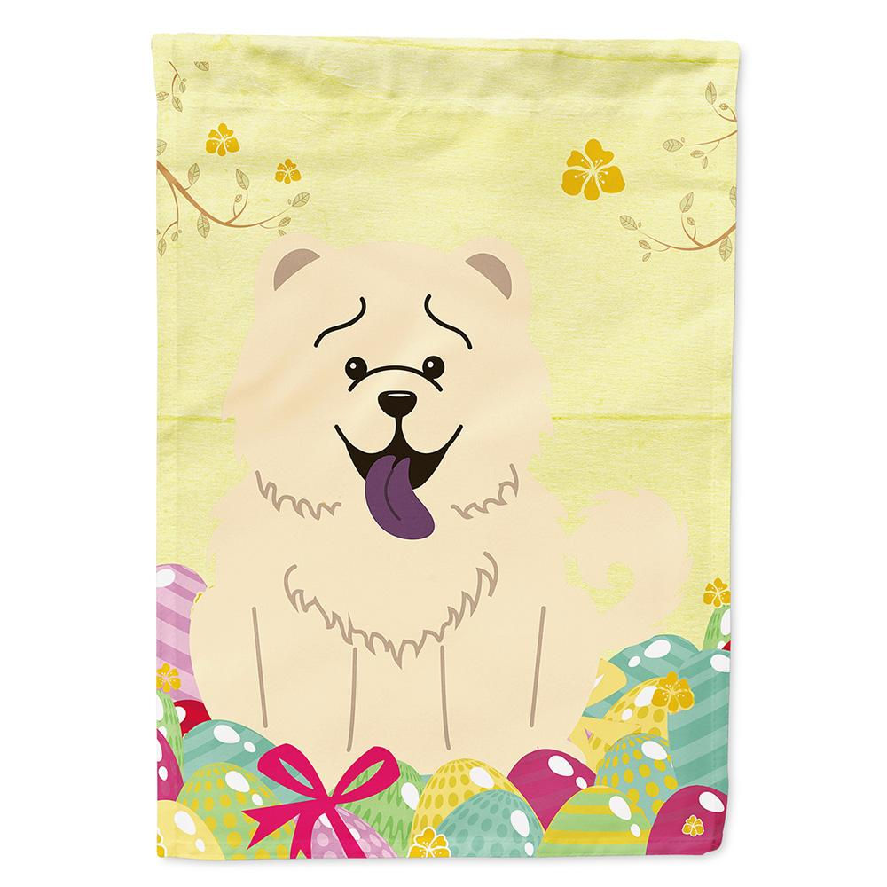 Easter Eggs Chow Chow White Flag Garden Size BB6140GF by Caroline's Treasures
