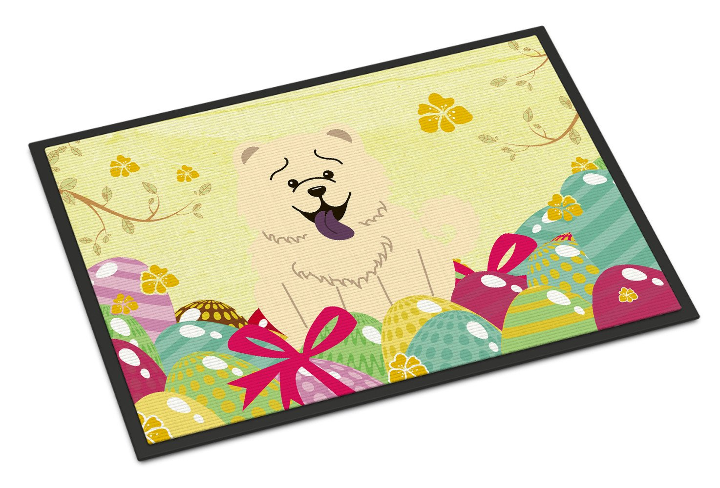 Easter Eggs Chow Chow White Indoor or Outdoor Mat 24x36 BB6140JMAT by Caroline's Treasures