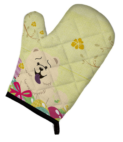 Buy this Easter Eggs Chow Chow White Oven Mitt BB6140OVMT