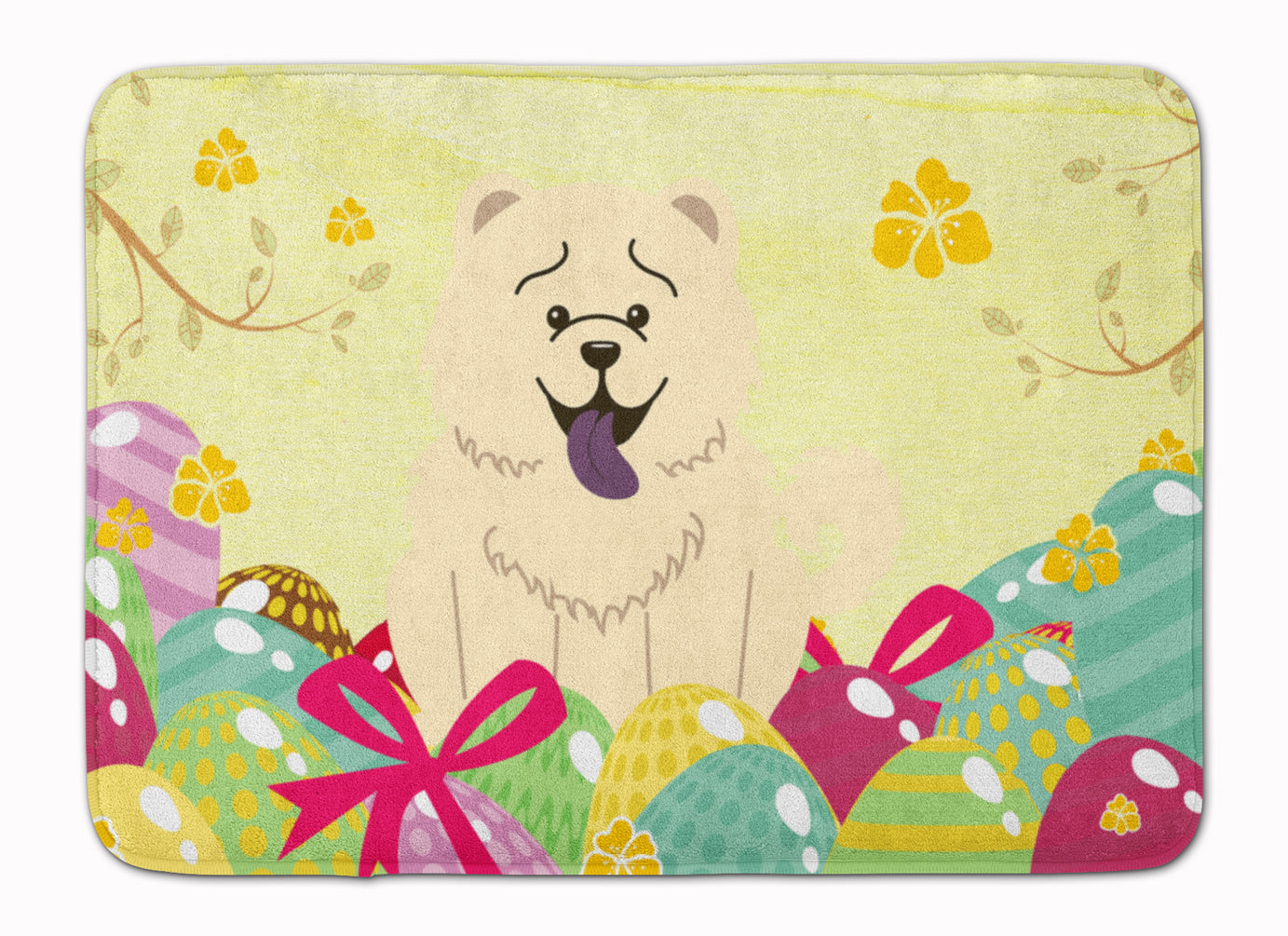 Easter Eggs Chow Chow White Machine Washable Memory Foam Mat BB6140RUG by Caroline's Treasures