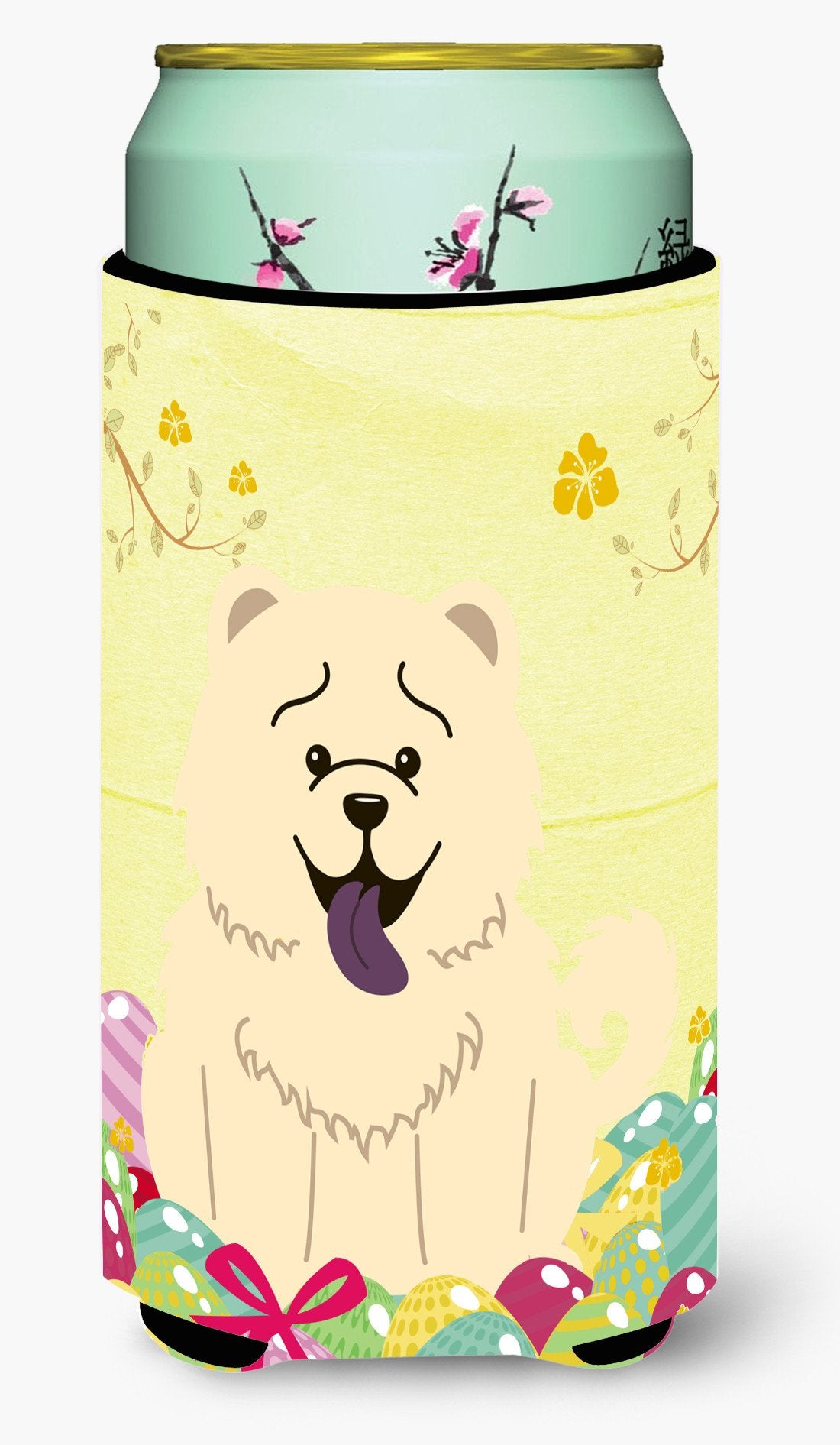 Easter Eggs Chow Chow White Tall Boy Beverage Insulator Hugger BB6140TBC by Caroline's Treasures