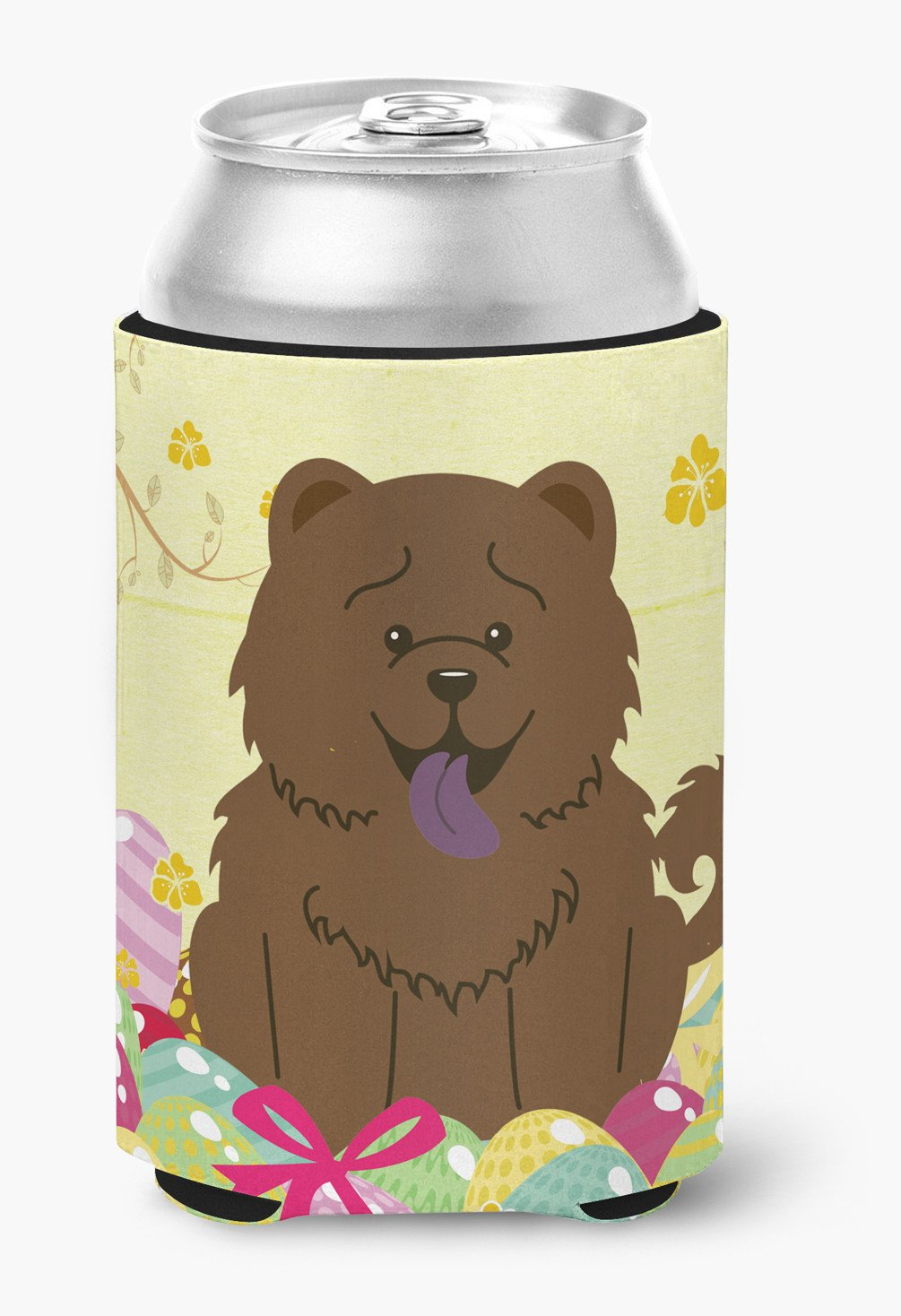Easter Eggs Chow Chow Chocolate Can or Bottle Hugger BB6141CC by Caroline's Treasures