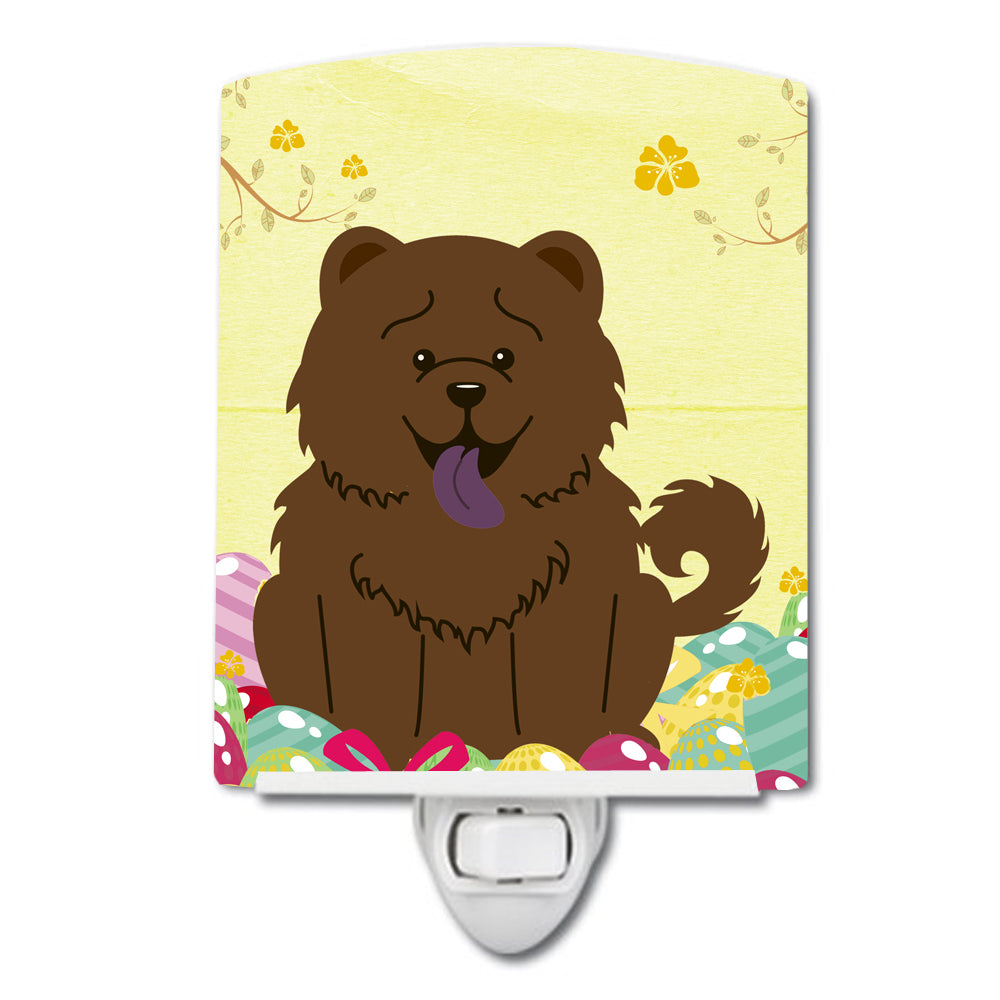 Easter Eggs Chow Chow Chocolate Ceramic Night Light BB6141CNL by Caroline's Treasures