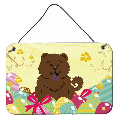 Buy this Easter Eggs Chow Chow Chocolate Wall or Door Hanging Prints BB6141DS812