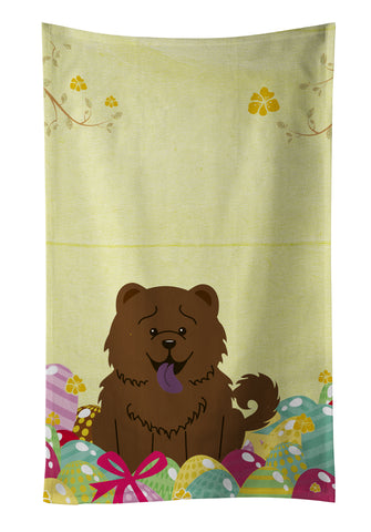 Buy this Easter Eggs Chow Chow Chocolate Kitchen Towel BB6141KTWL