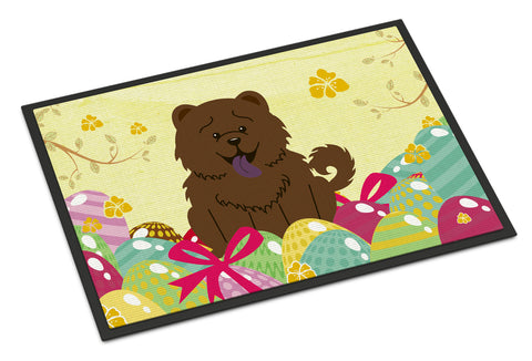 Buy this Easter Eggs Chow Chow Chocolate Indoor or Outdoor Mat 18x27 BB6141MAT
